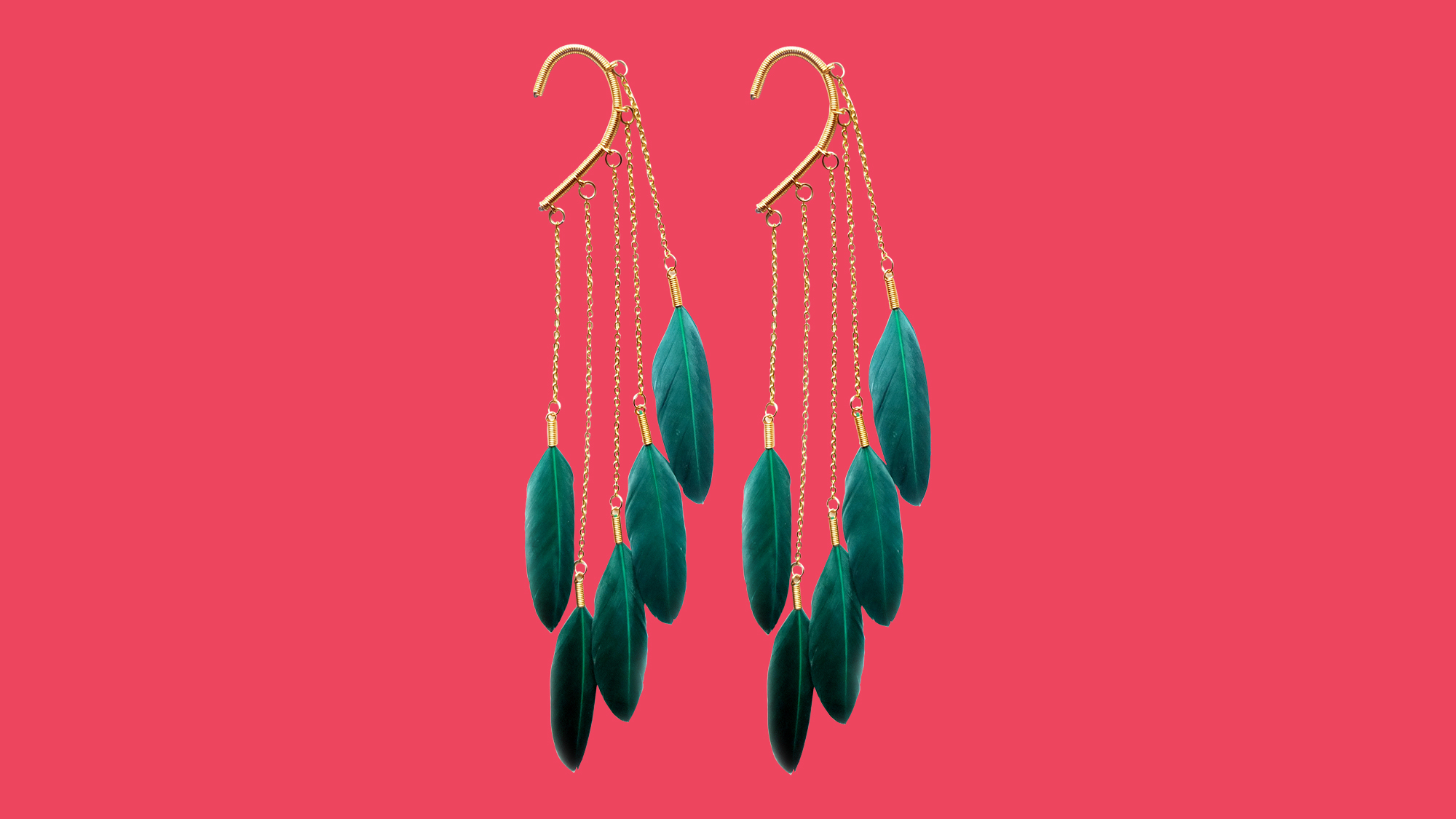 Feather earrings from Anni Jergenson