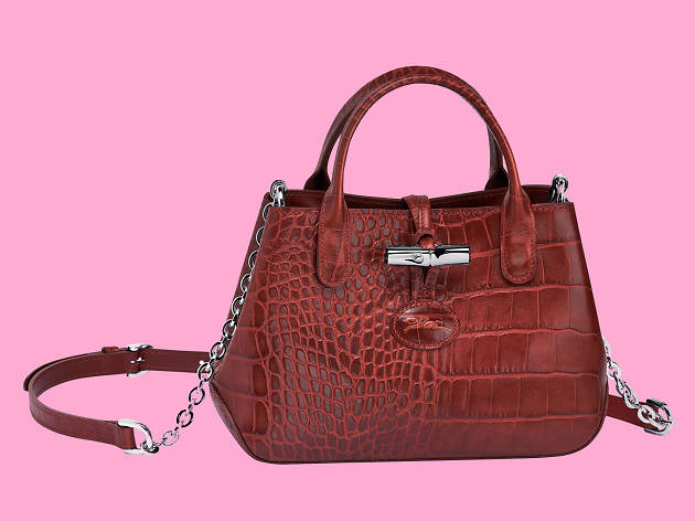 Roseau Croco handbag from Longchamp