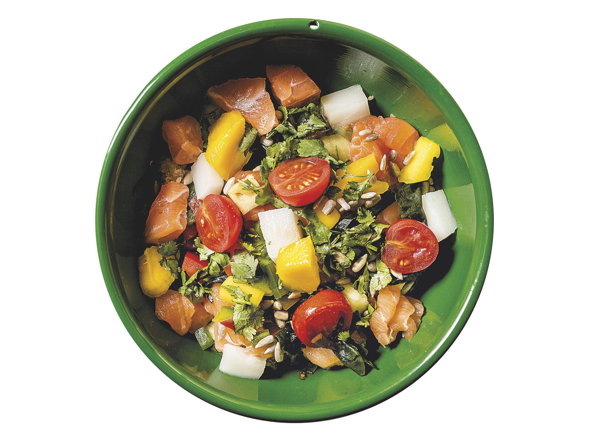 poke bowl de salmao, poké bowls