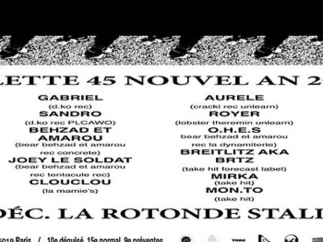House & Techno •  Le Nouvel An de Villette 45 at la Rotonde