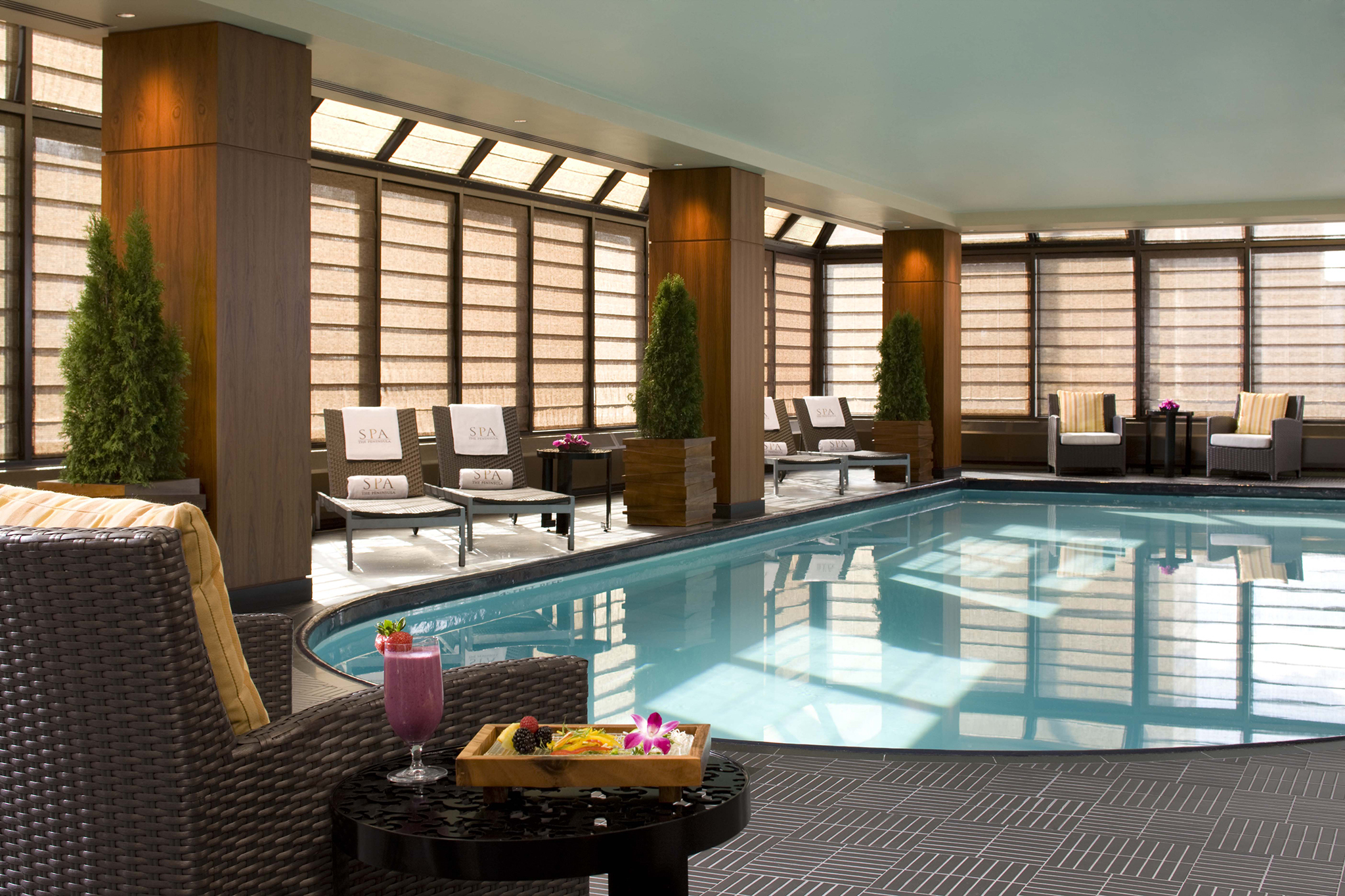 Best hotels with indoor pools in spas or on rooftops in NYC