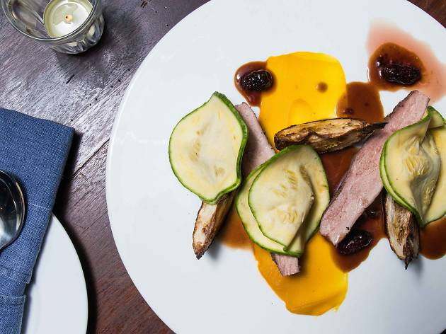 No.1 tea smoked duck breast with pumpkins at 80/20