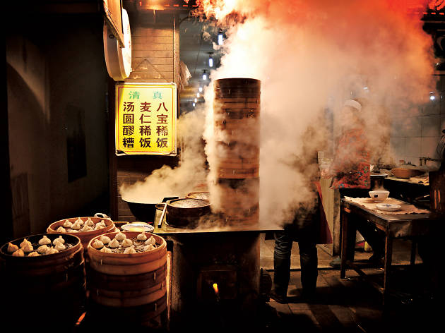 Dim sum stalls in Beijing