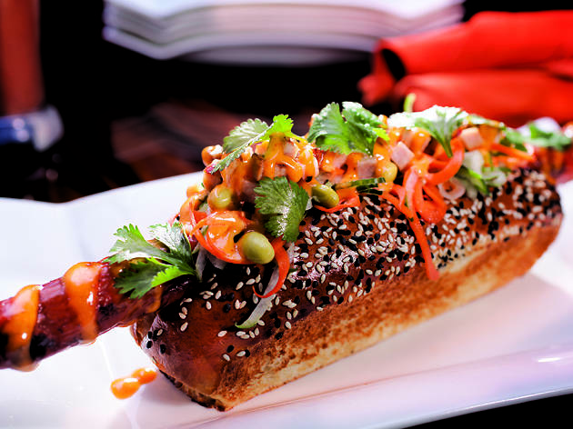 Fresh Roasted Chili Dawg at Gordon Ramsay BurGR