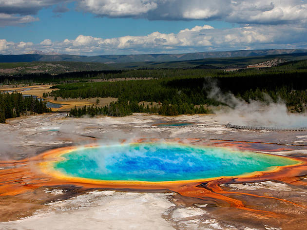 Tour of Yellowstone Park, Wyoming
