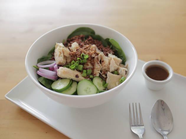 Chicken rice salad at Chai Bar