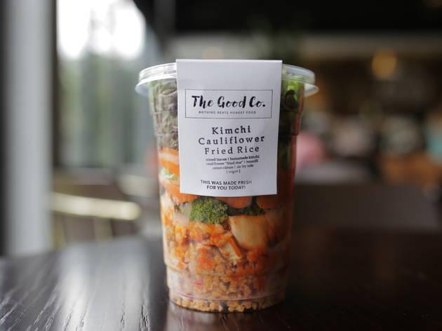 Kimchi cauliflower fried rice at The Good Co.