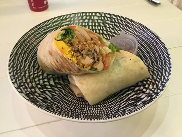 Nasi lemak roll at La Juiceria Superfoods