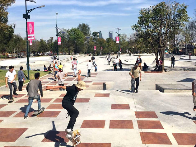 Skatepark Constituyentes se encuentra en la Segunda Sección del Bosque de Chapultepec