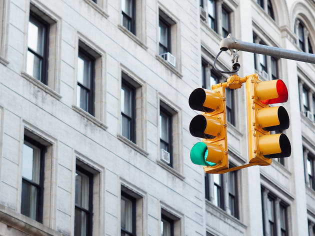 Watch this NYC driver hit 240 green lights in a row