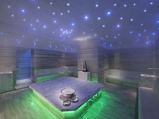 Get hot and steamy in a spa