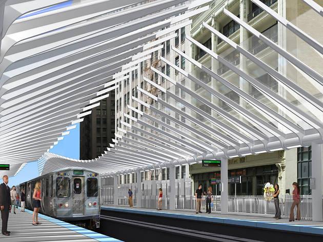 Rendering of Washington/Wabash station.