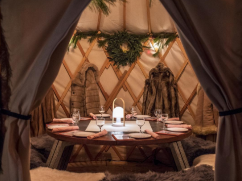 You can now drink in a yurt at the Standard East Village