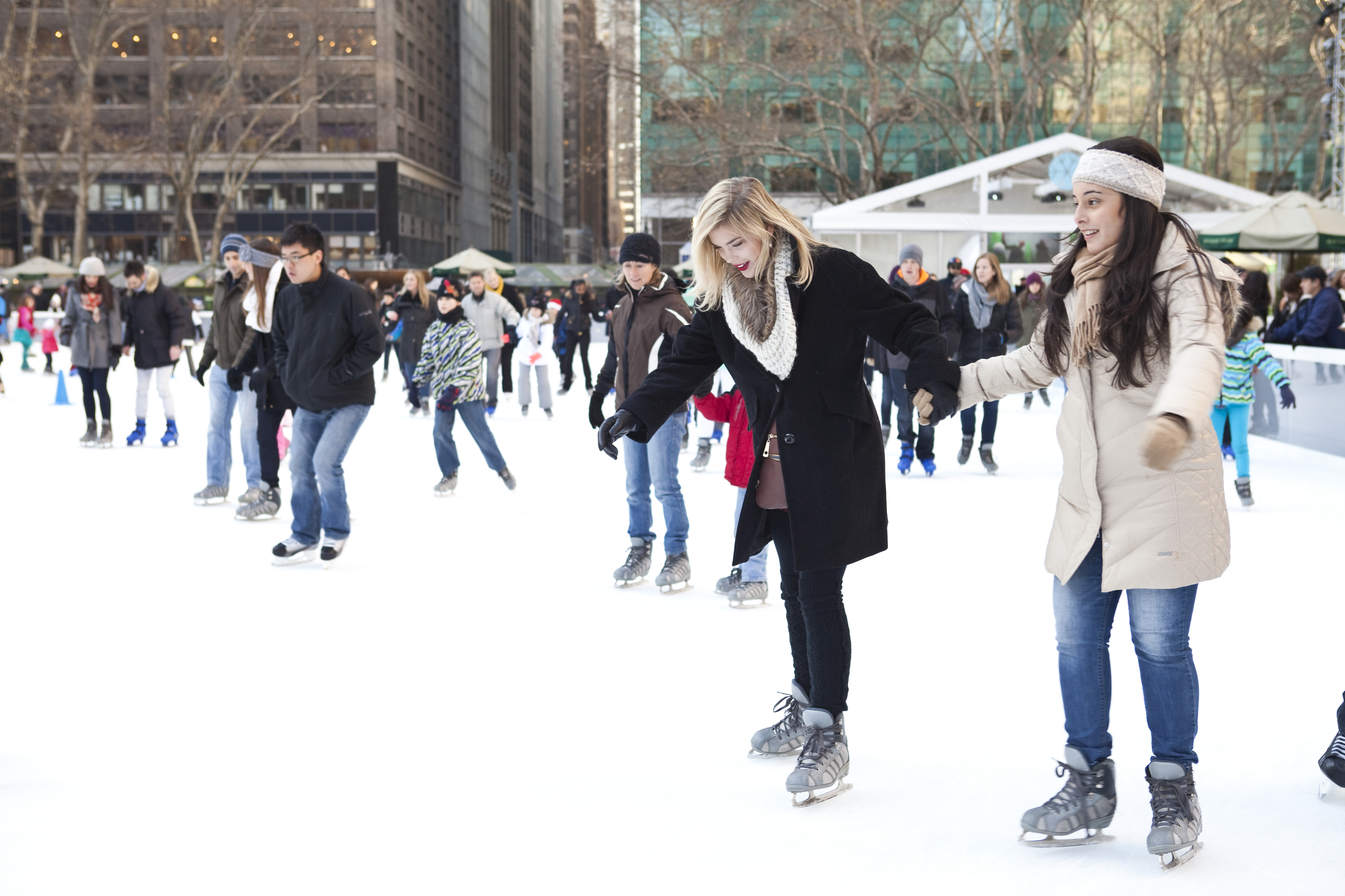 Bryant Park is now offering fitness classes on its ice rink