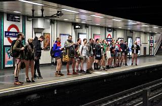 No Trousers on the Tube Ride