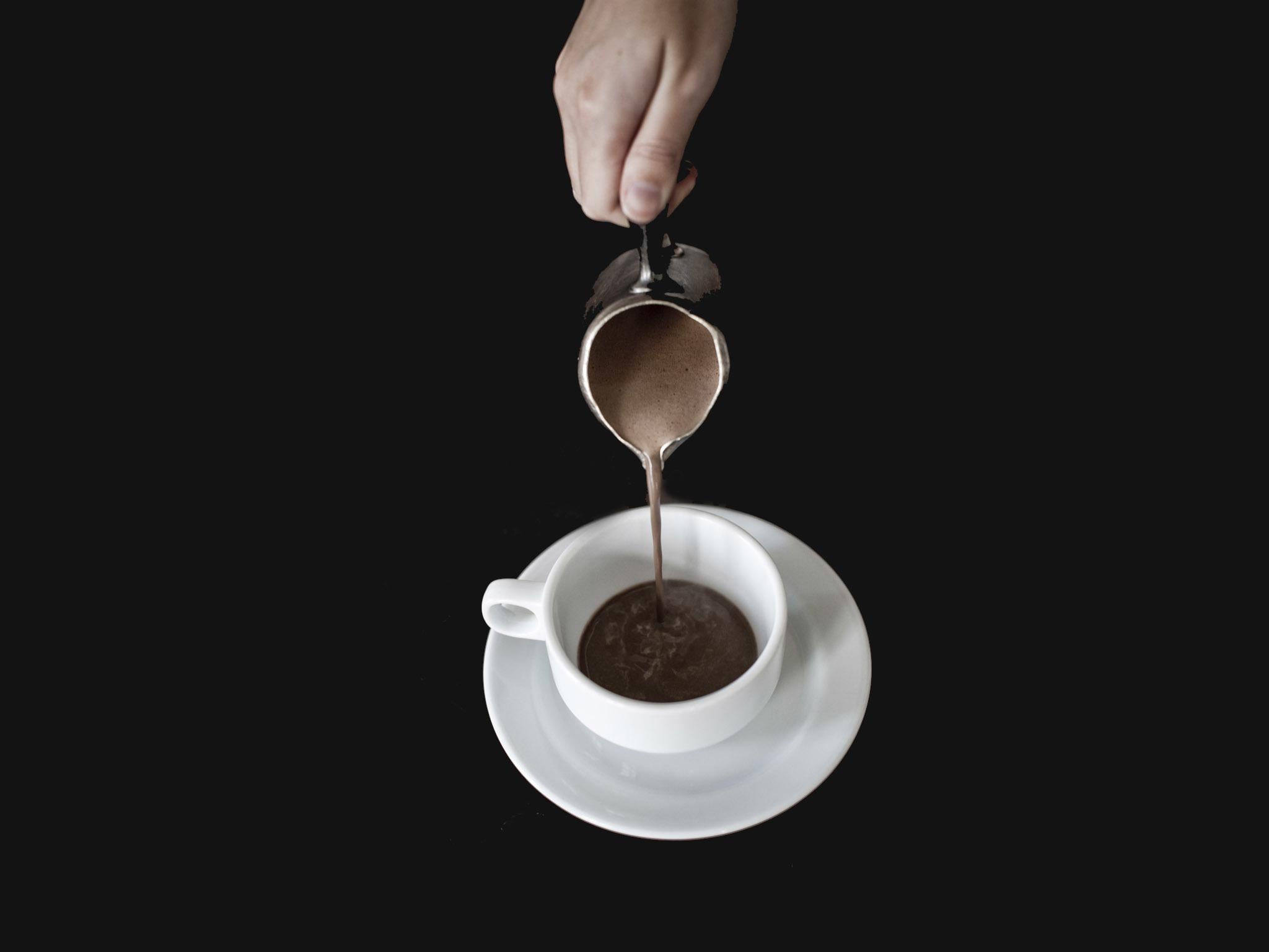 Chocolate quente da Confeitaria Nacional