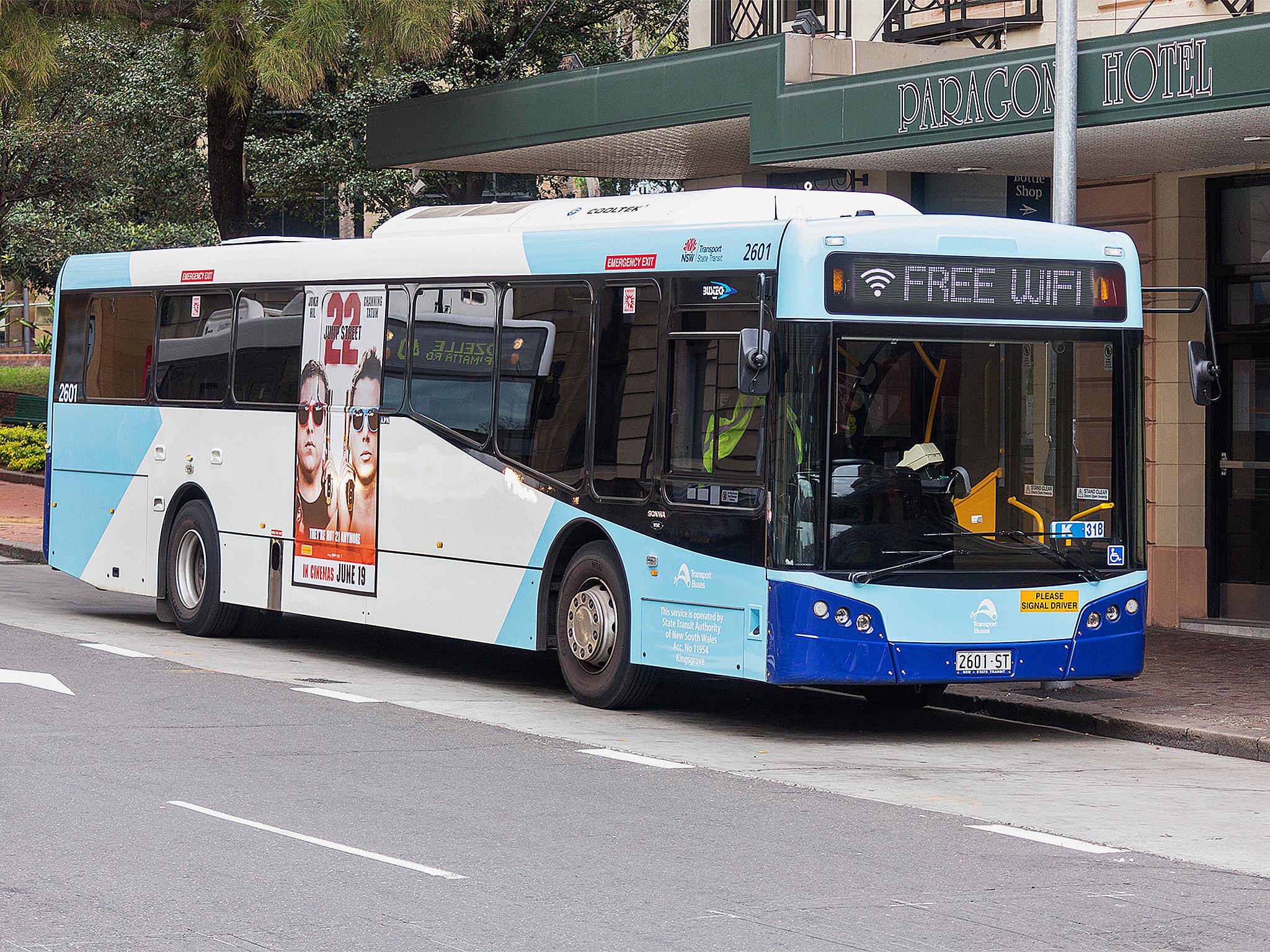 Sydney buses free wifi