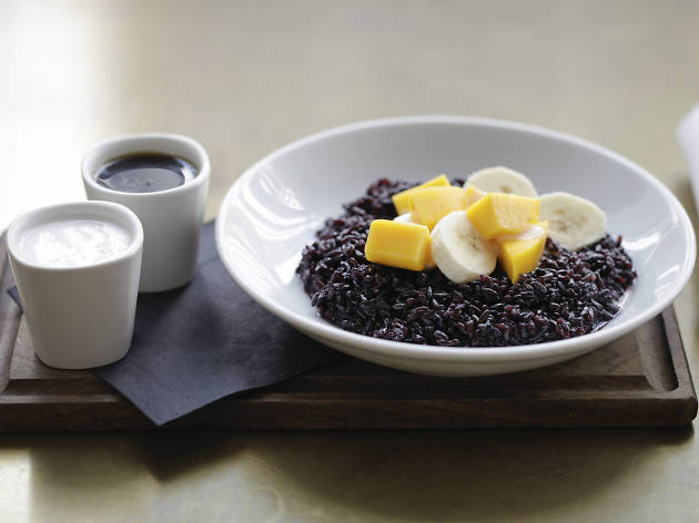 best vegan dishes in london, nopi, black rice with coconut milk