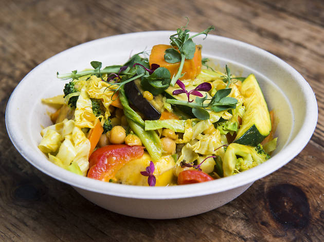 best vegan dishes in london, cook daily, yoga fire curry bowl