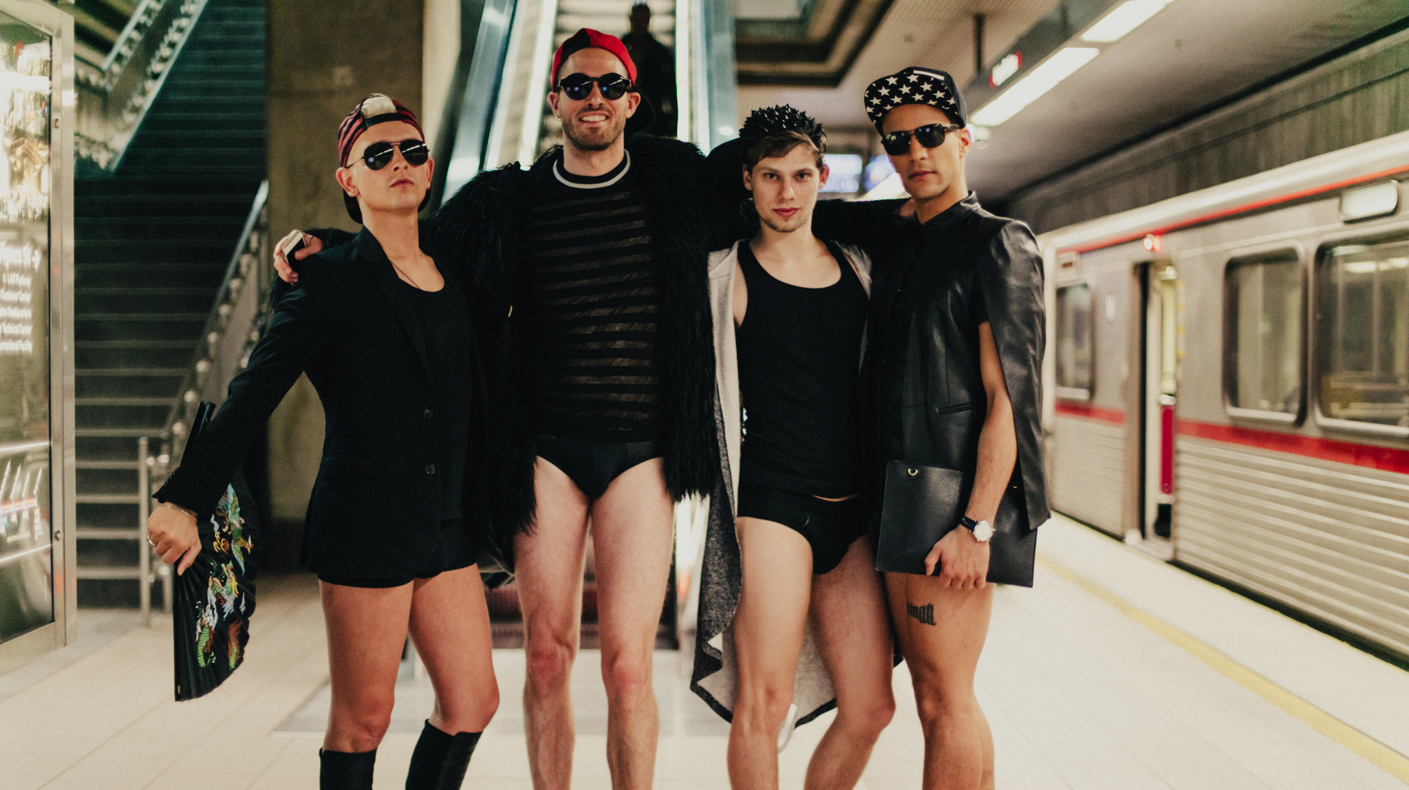 Angelenos took Metro in their underwear for No Pants Subway Ride 2017