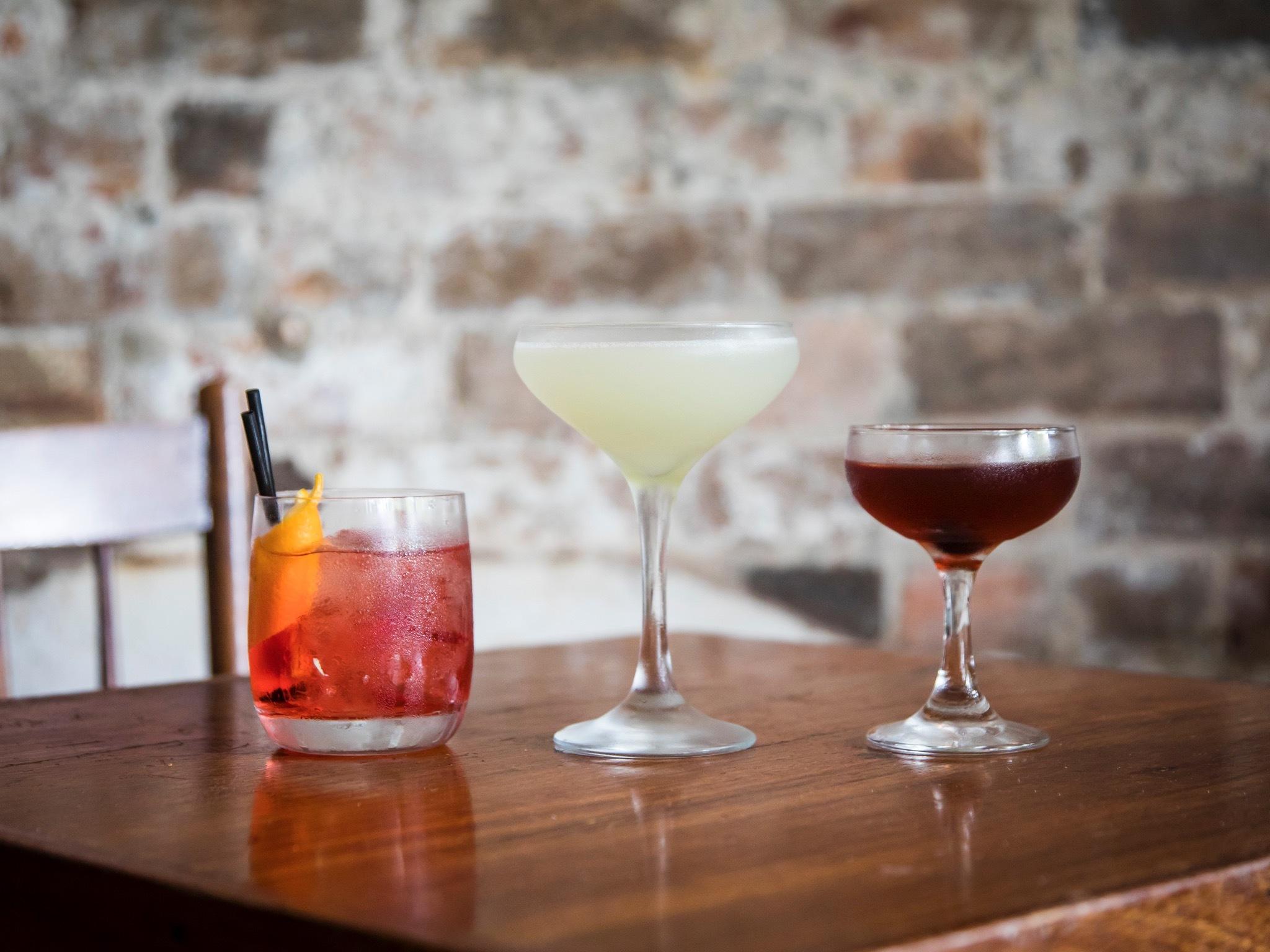 Cocktails at Arcadia Liquors