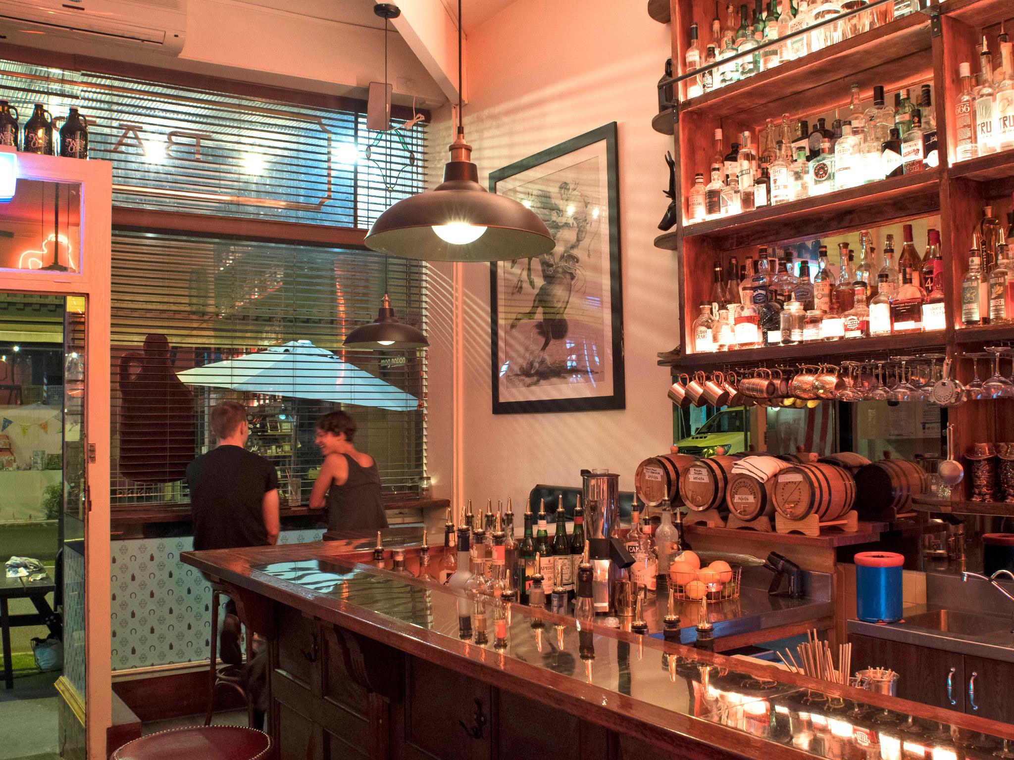 White Oaks Saloon customers