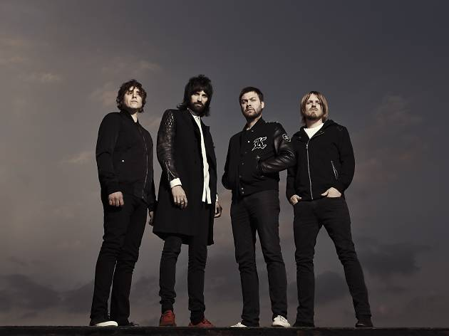 Band photograph of Kasabian