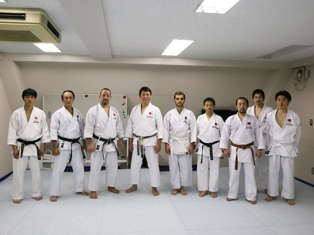 Karate chops at the Houkukan Dojo
