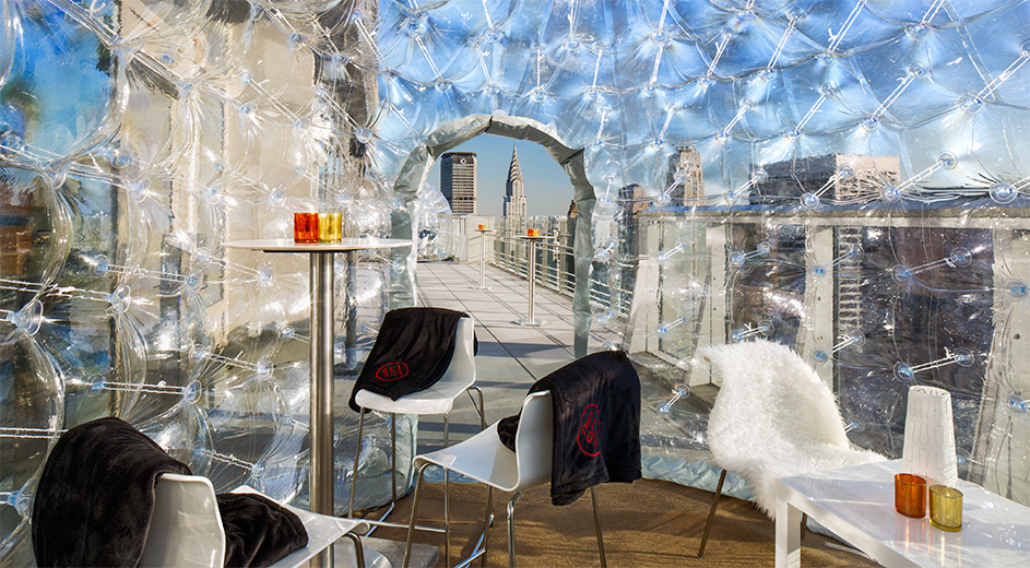 Drink in a bubble on New York's highest rooftop bar