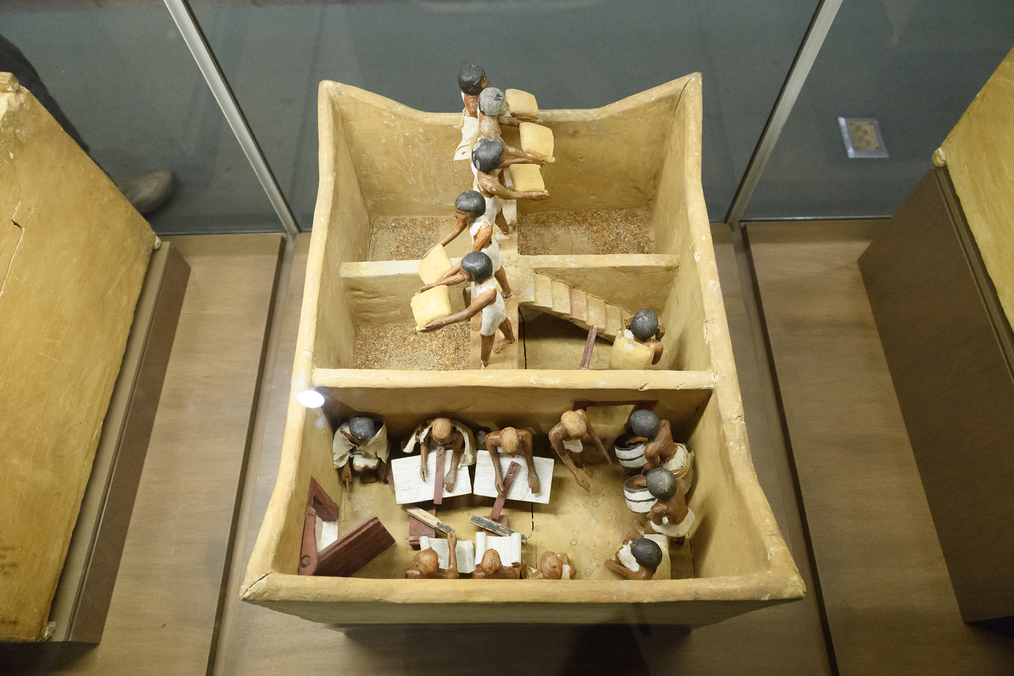 Model of a Granary with Scribes, Egyptian Middle Kingdom (ca. 1981–1975 B.C.), from the Tomb of Meketre