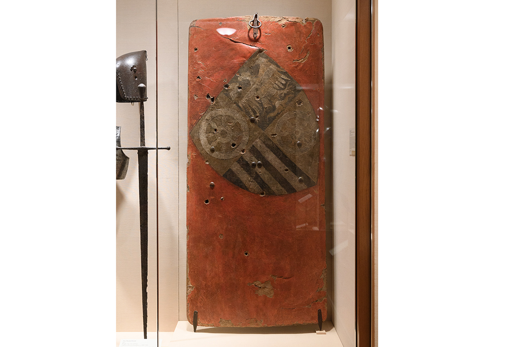 Standing Shield, German, 1385–87