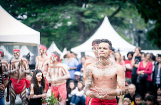 Aboriginal performers at Yabun