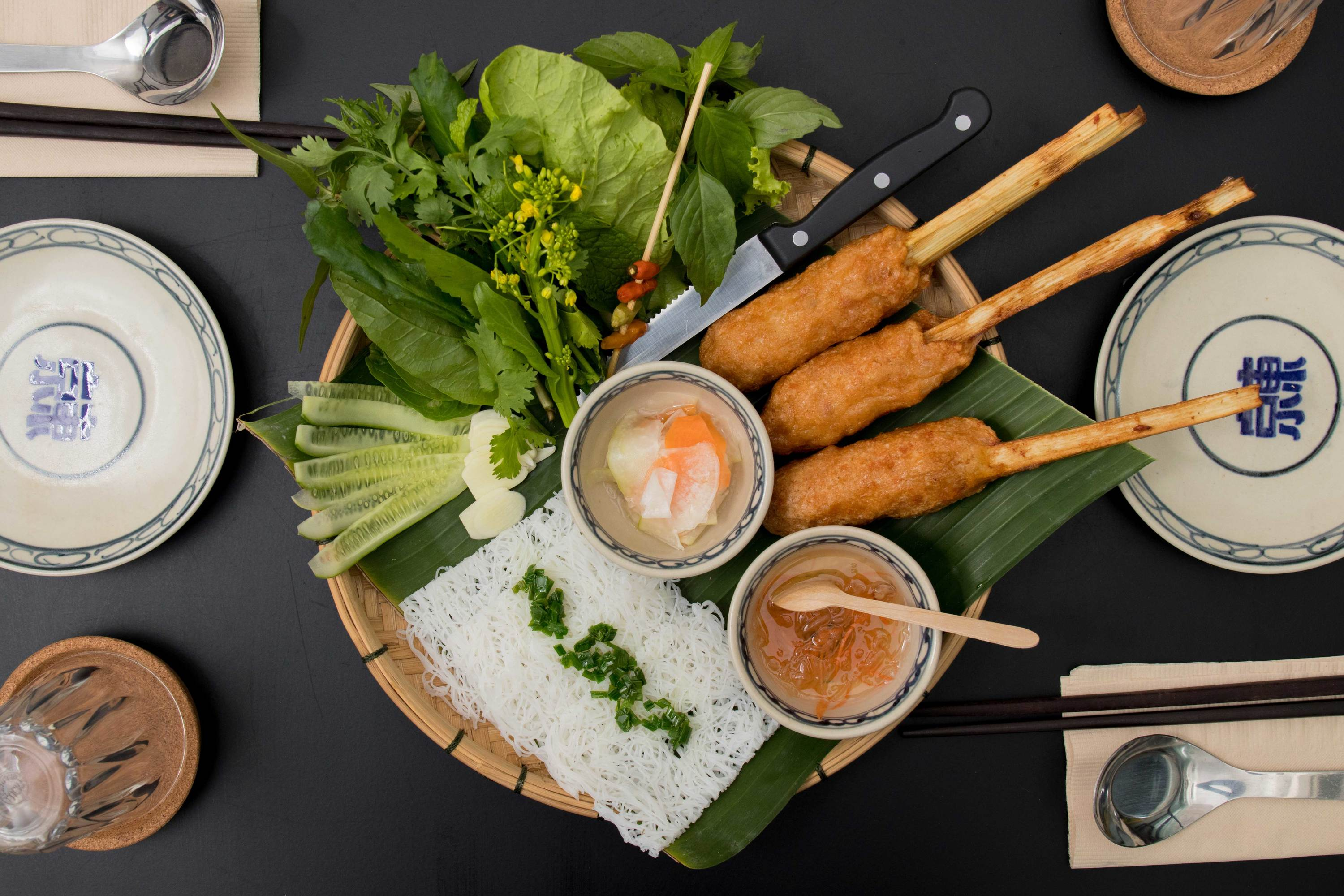 Cha Tom, vietnamese delicacies at Tonkin Annam