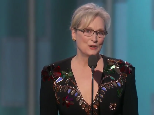 Meryl Streep got a 'totally undeserved' standing ovation at the Oscars