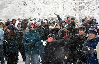 A massive snowball fight is coming to Bryant Park