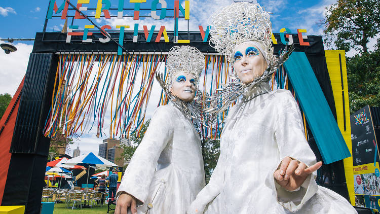 Osadia stand at the entrance to the Sydney Festival Festival Village