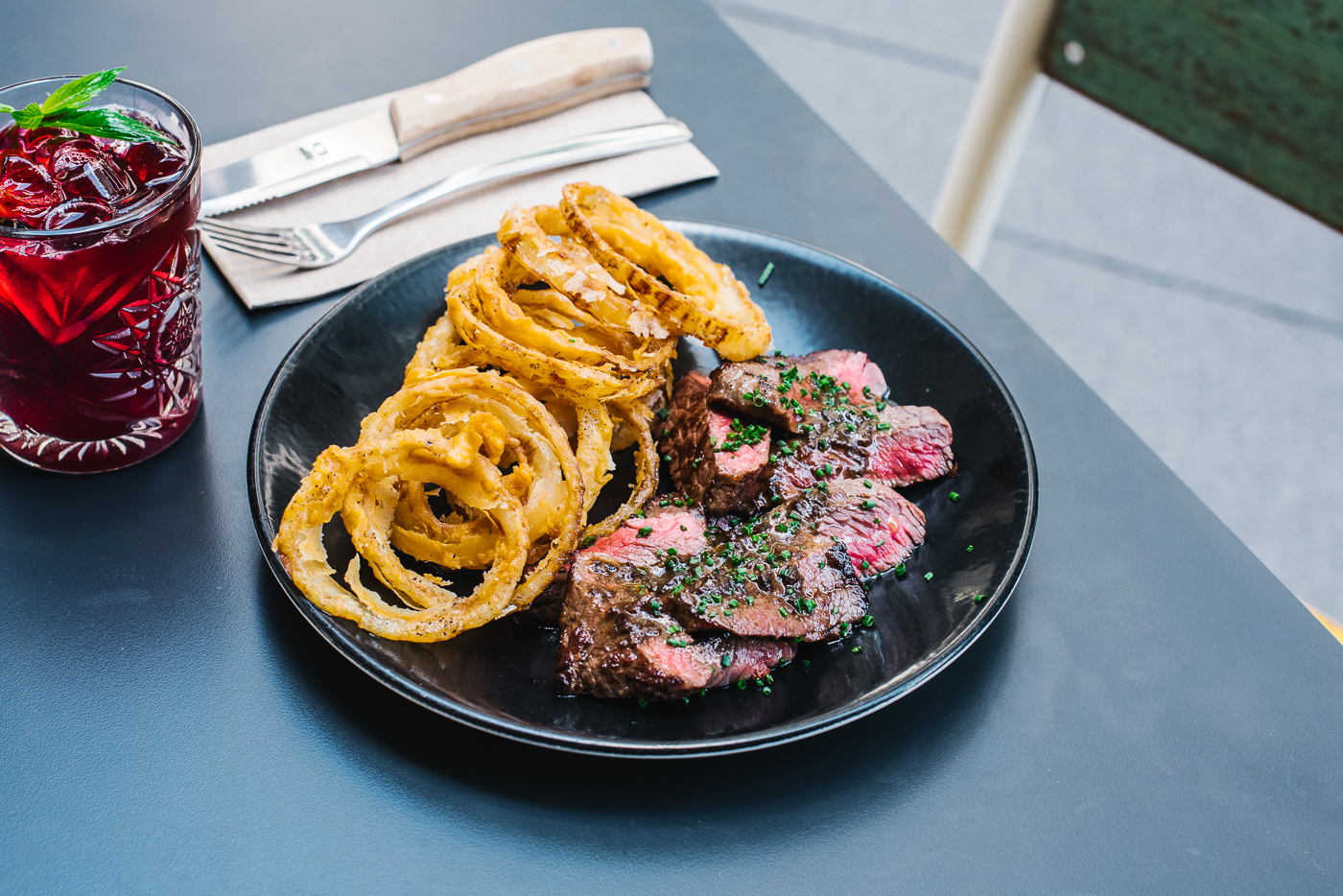 Wagyu steak at Devon Cafe