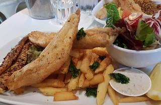 Fish and chips at Tank