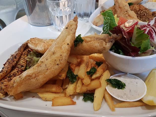Fish and chips at Tank