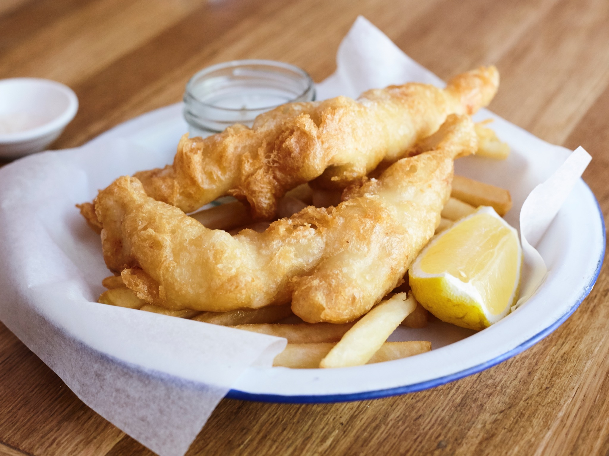 Fish and Chips at The Fish Shop