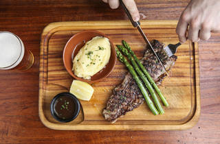 Steak at the Dove and Olive