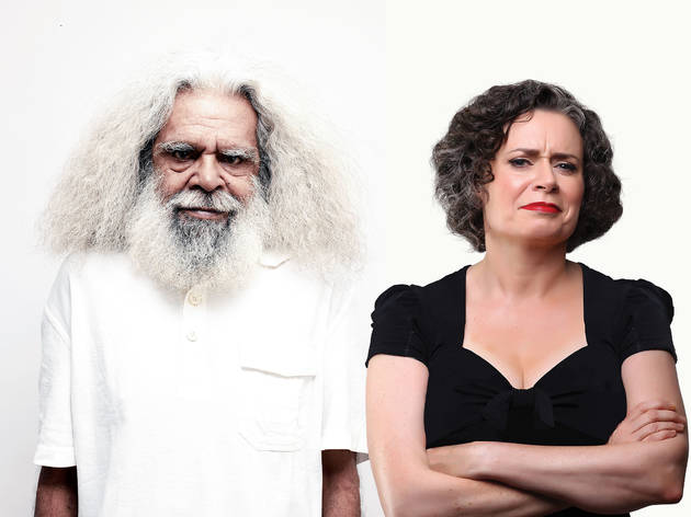 Composite of Jack Charles and Judith Lucy