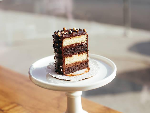 Chocolate Malt Cake: Elizabeth Belkind at Cake Monkey Bakery
