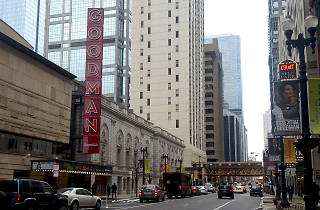 Goodman Theatre will light up its new marquee on Thursday
