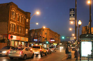 Intersection of Milwaukee Avenue and California Avenue in Logan Square.