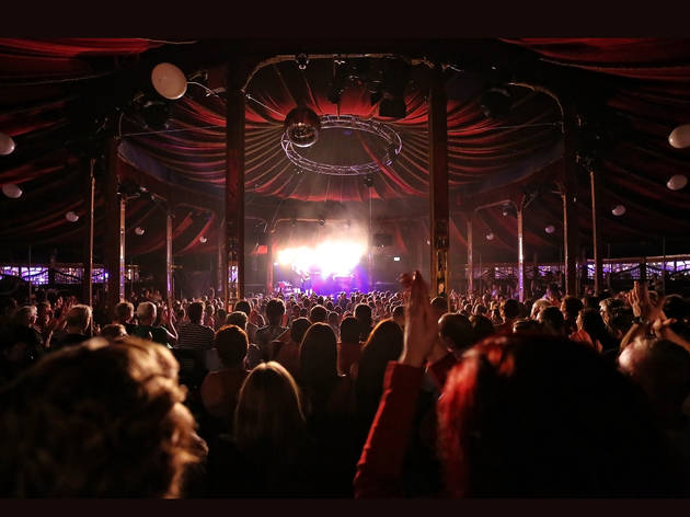 Magic Mirrors Spiegeltent 2017 Sydney Festival interior view during Mother's Ruin cabaret courtesy SF2017 photographer credit Prudence Upton