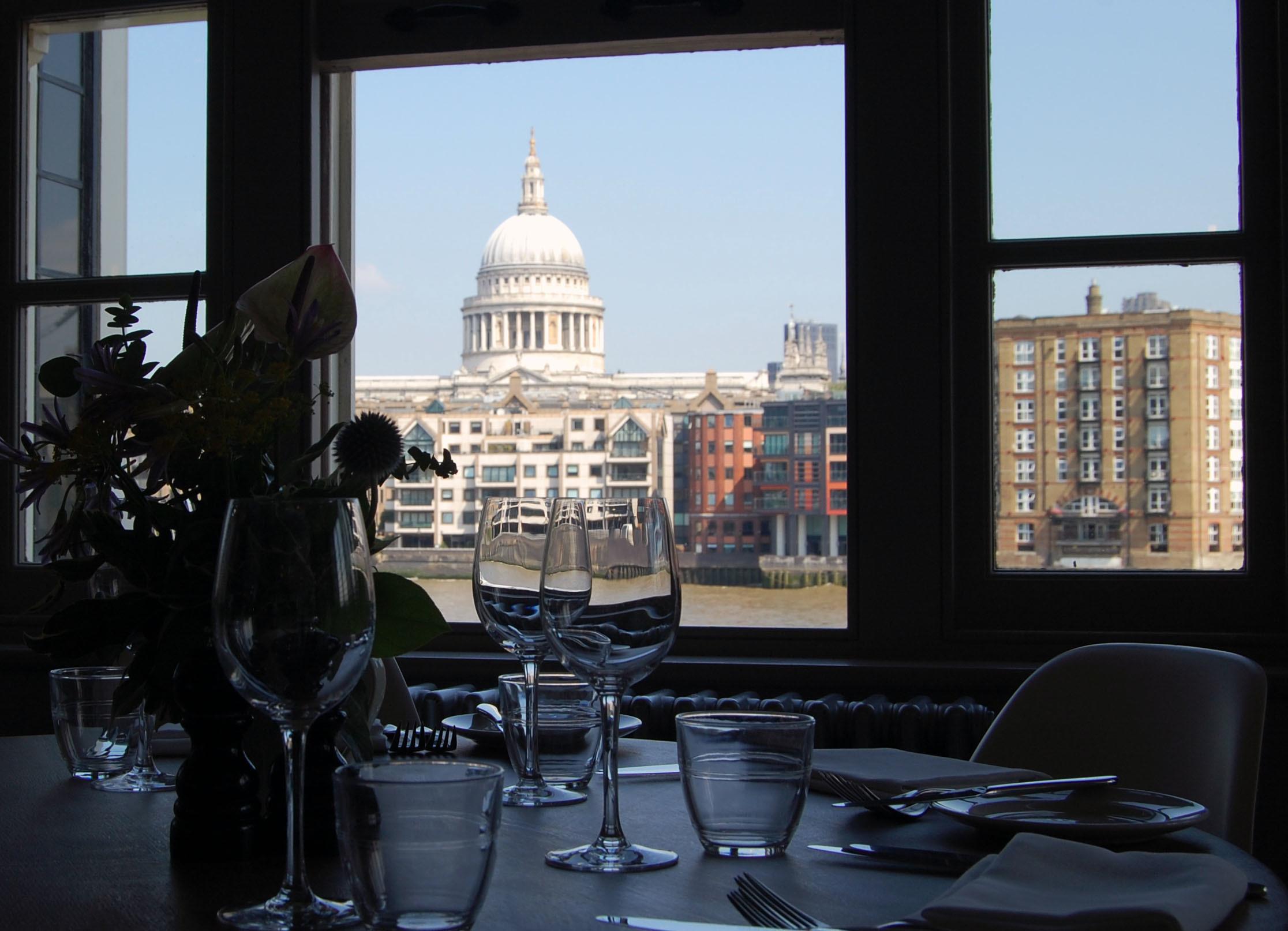 south bank restaurants, swan at the globe
