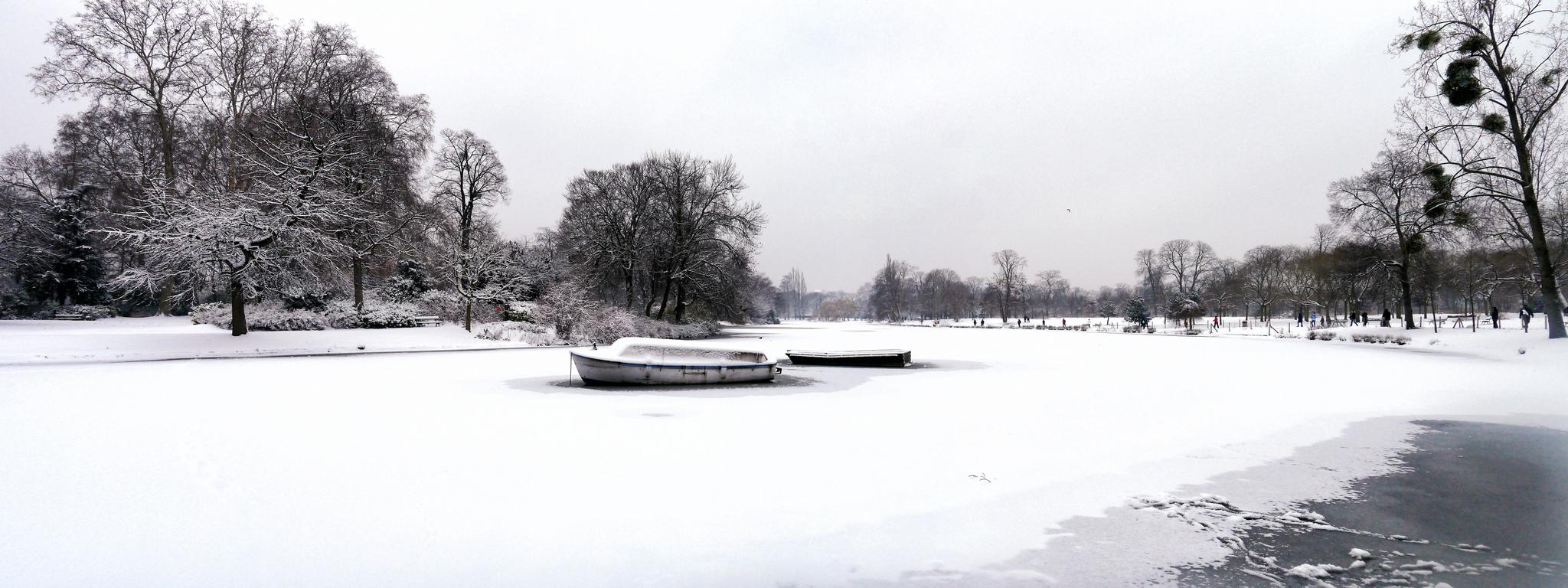 Nevó en Paris.