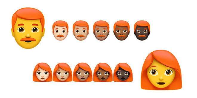 Volem emojis pèl-rojos!