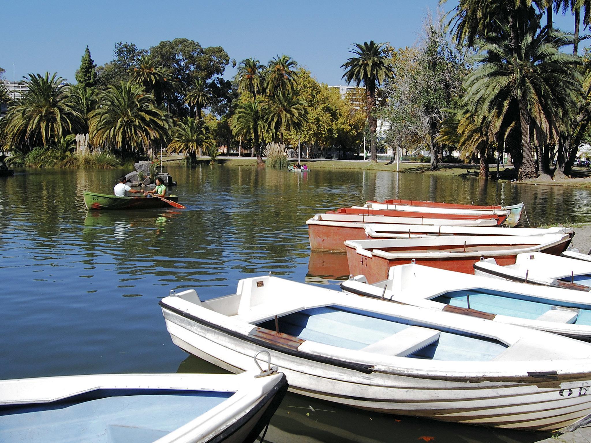 Barcos a remos no jardim do campo grande